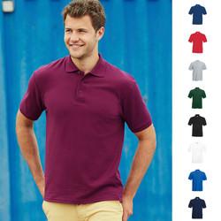 Herren Mann Men dickes Poloshirt Polo Shirt Fruit of the loom Pique Heavy 65/35