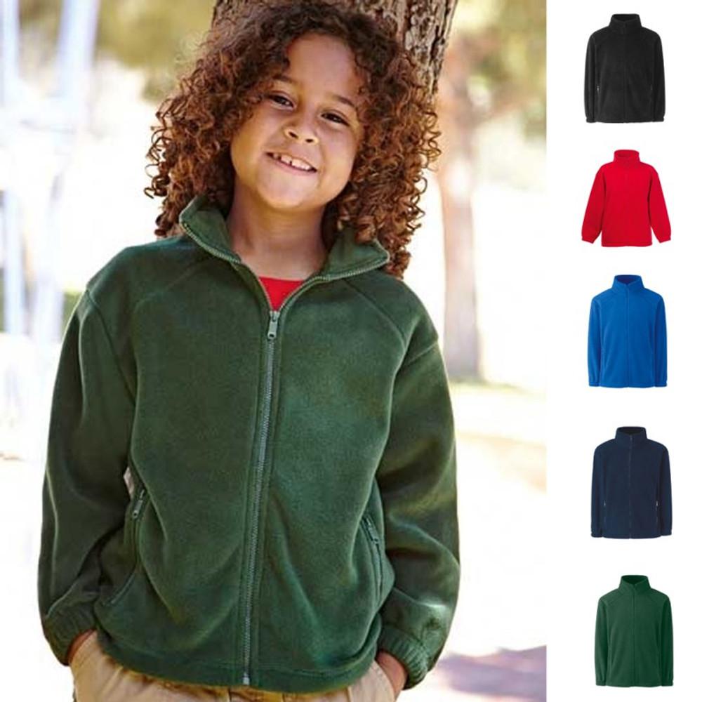 10cf44b037 Kinder Kind Kids Junge Mädchen Fleece Jacket Jacke Fleecejacke Fruit of the  loom