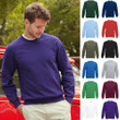 Herren Mann Sweat Raglan Pullover Pulli Fruit of the loom Basic Sweatshirt 80/20
