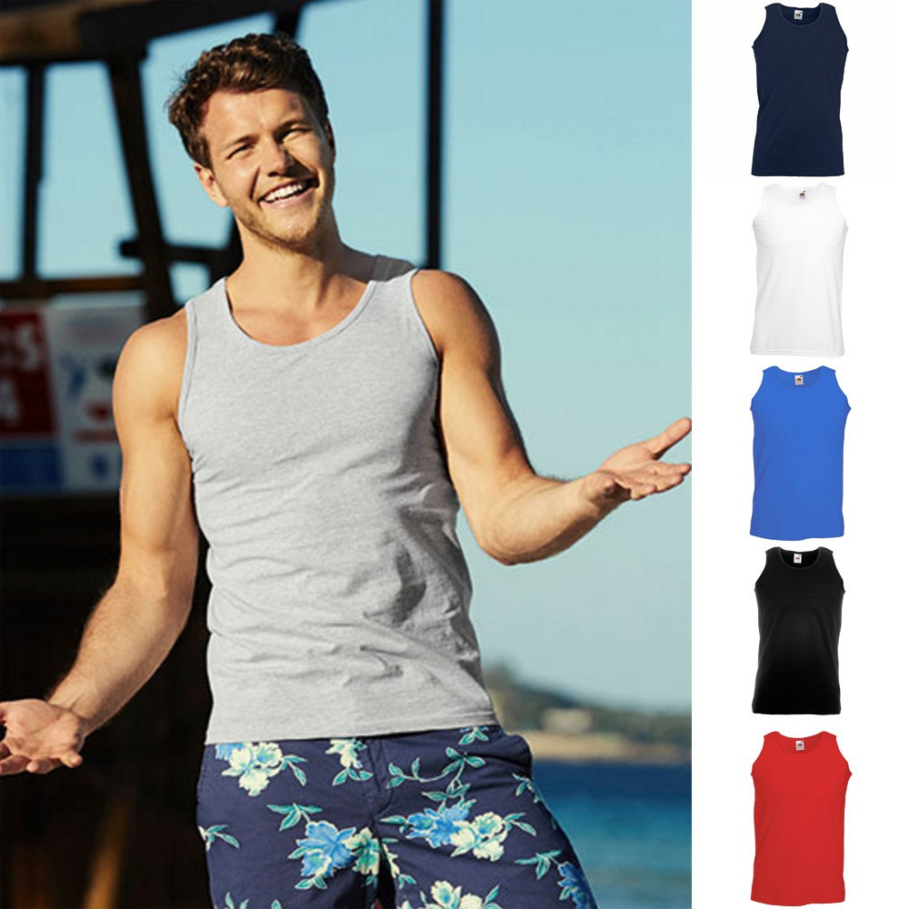 pretty nice e79eb 00342 Details zu 5x Fruit of the loom Trägershirt Athletic Vest Tank Top Herren  T-Shirt S - 5XL