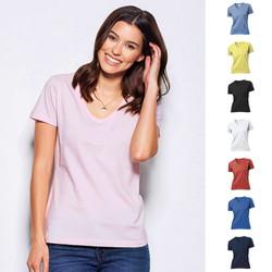 Lady Fit Damen Classic V-Neck V-Ausschnitt T-Shirt Stedman 8 Farben S-XXL ST2700