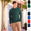 Herren Mann Long Sleeve Polo Lang Fruit of the loom Premium Langarm Poloshirt