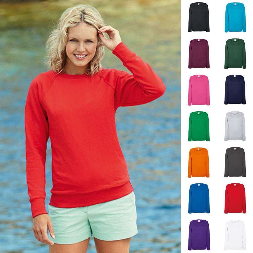 Modestile besondere Auswahl an Abstand wählen Details zu Damen Lady Fit Sweatshirt Sweat Raglan Pullover Fruit of the  loom Lightweight