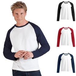 Herren Mann Men Baseball Longsleeve Lang Long Langarm T-Shirt Promodoro 3 Farben
